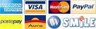 Visa, Mastercard, AmEx, Paypal, Aura, IWSmile